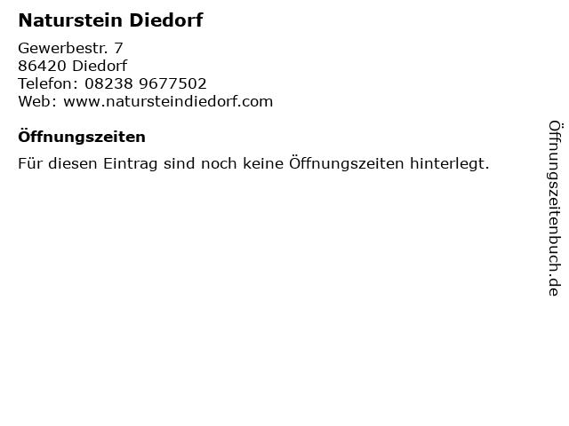 Naturstein Diedorf in Diedorf: Adresse und Öffnungszeiten