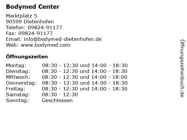 Bodymed Center in Dietenhofen: Adresse und Öffnungszeiten