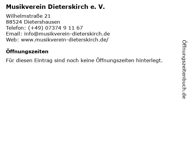 Musikverein Dieterskirch e. V. in Dietershausen: Adresse und Öffnungszeiten