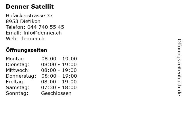 Denner Satellit in Dietikon: Adresse und Öffnungszeiten