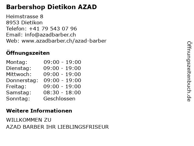 Stephane's Barbershop in Dietikon: Adresse und Öffnungszeiten