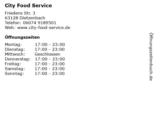 City Food Service in Dietzenbach: Adresse und Öffnungszeiten