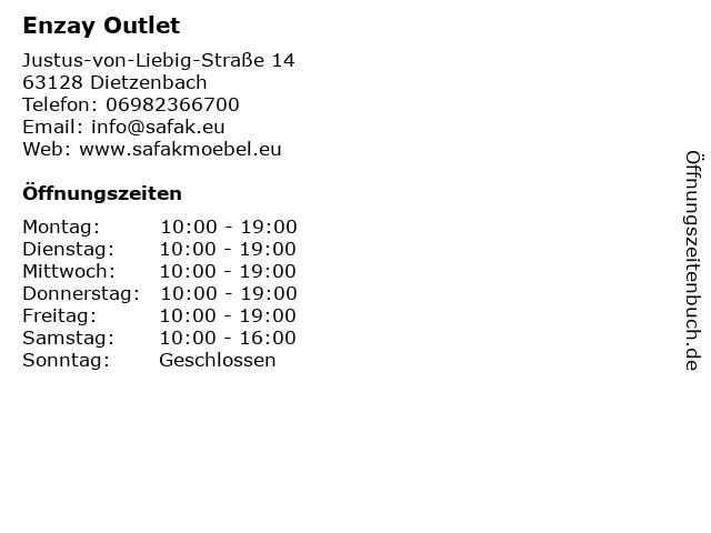 e8240d519ca7c3 Enzay Outlet in Dietzenbach  Adresse und Öffnungszeiten