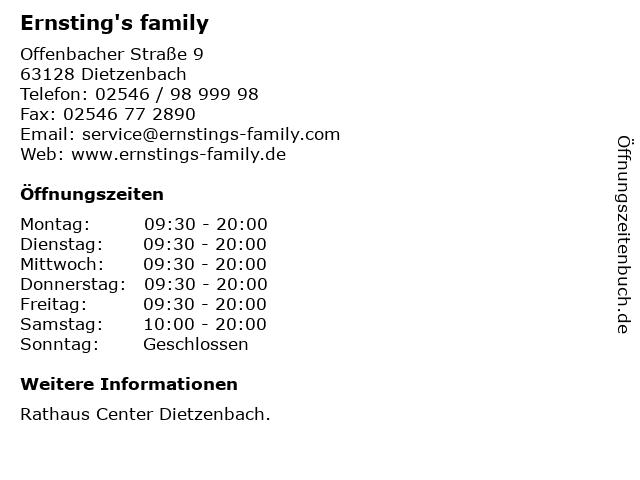 Ernsting's family in Dietzenbach: Adresse und Öffnungszeiten