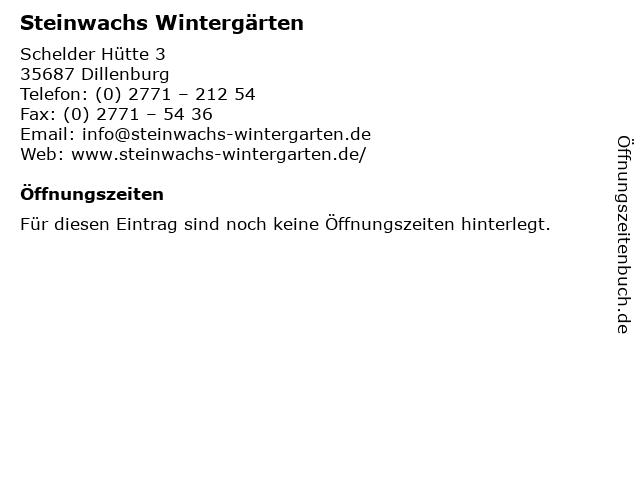 Steinwachs Wintergärten in Dillenburg: Adresse und Öffnungszeiten