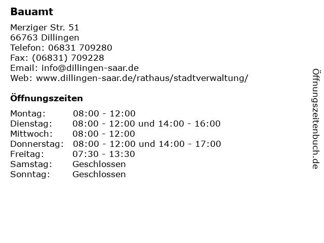 Bauamt in Dillingen: Adresse und Öffnungszeiten