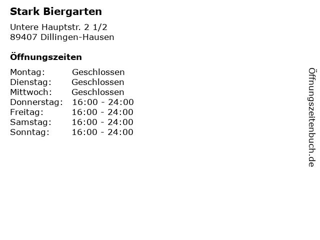 Á… Offnungszeiten Stark Biergarten Untere Hauptstr 2 1 2 In Dillingen Hausen