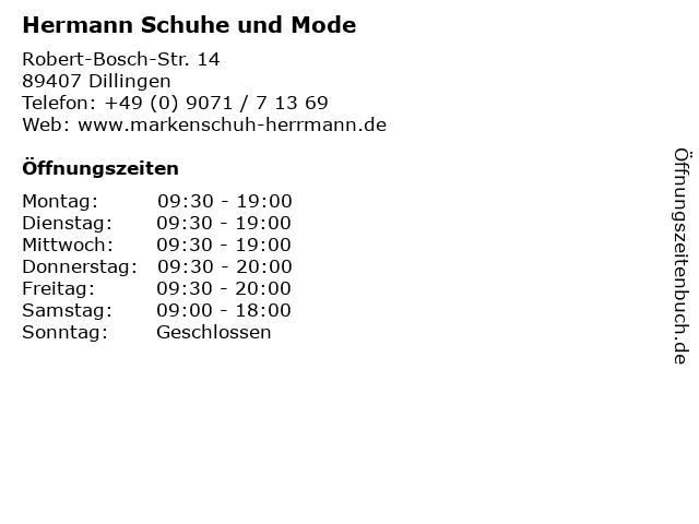 Hermann Schuhe und Mode in Dillingen: Adresse und Öffnungszeiten