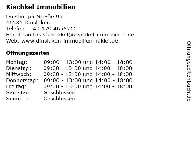 Kischkel Immobilien in Dinslaken: Adresse und Öffnungszeiten