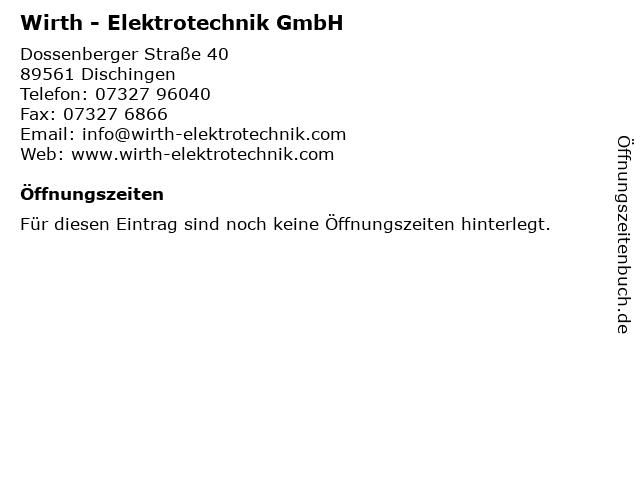 Wirth elektrotechnik hildegard medizin bertram