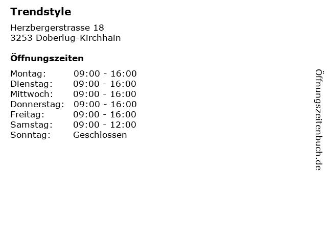 Trendstyle in Doberlug-Kirchhain: Adresse und Öffnungszeiten