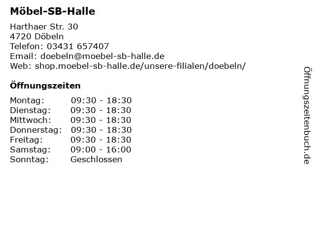 ᐅ öffnungszeiten Möbel Sb Halle Gmbh Fil Döbeln Harthaer Str