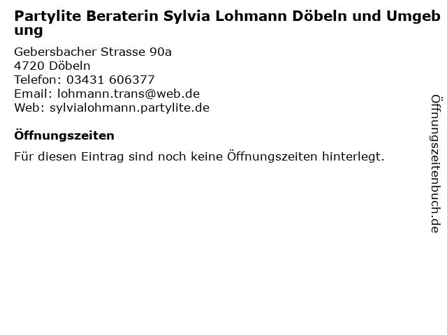Partylite Beraterin Sylvia Lohmann Döbeln und Umgebung in Döbeln: Adresse und Öffnungszeiten