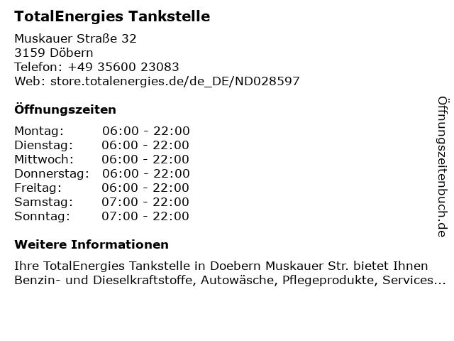 TOTAL Tankstelle in Döbern: Adresse und Öffnungszeiten