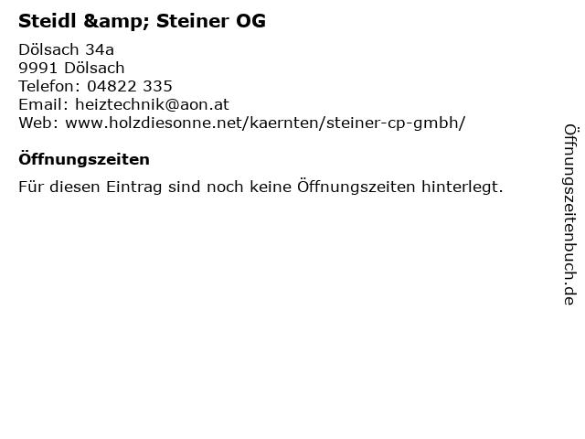Steidl & Steiner OG in Dölsach: Adresse und Öffnungszeiten