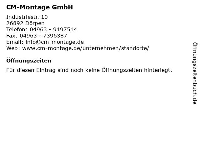 CM-Montage GmbH in Dörpen: Adresse und Öffnungszeiten