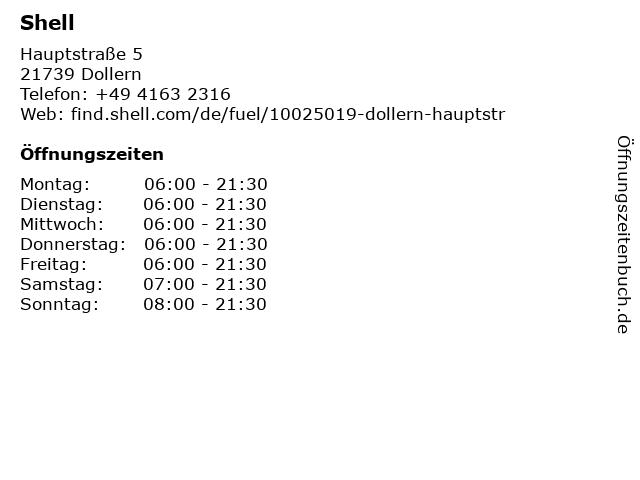 Shell Station in Dollern: Adresse und Öffnungszeiten