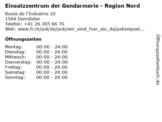 Einsatzzentrum der Gendarmerie - Region Nord in Domdidier: Adresse und Öffnungszeiten
