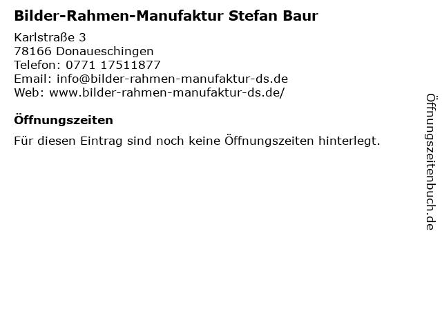 Stefan Baur in Donaueschingen: Adresse und Öffnungszeiten