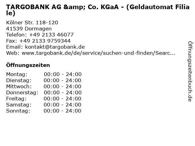 TARGOBANK AG & Co. KGaA - (Geldautomat Filiale) in Dormagen: Adresse und Öffnungszeiten
