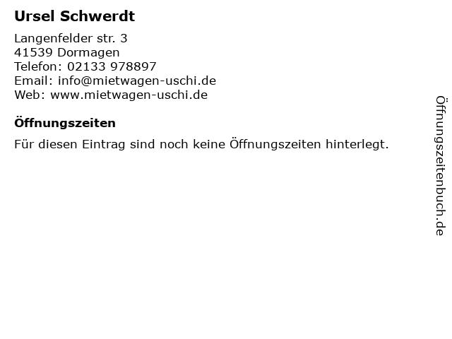 Mietwagen Uschi in Dormagen: Adresse und Öffnungszeiten