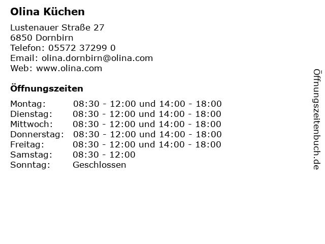 ᐅ Offnungszeiten Olina Kuchen Lustenauer Strasse 27 In Dornbirn