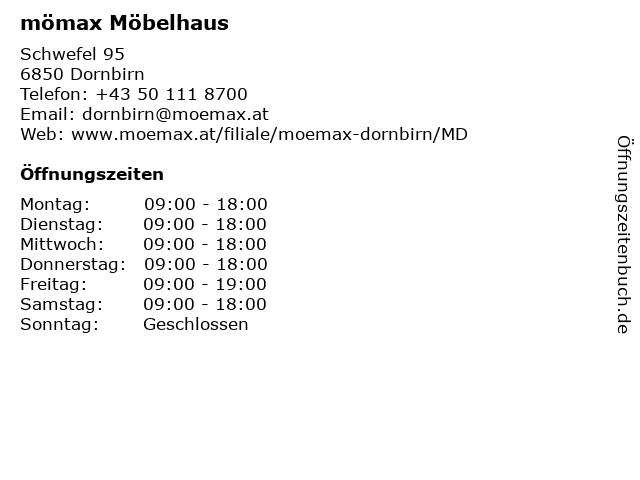 ᐅ öffnungszeiten Mömax Möbelhaus Dornbirn Schwefel 95 In Dornbirn