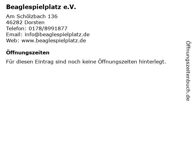 Beaglespielplatz e.V. in Dorsten: Adresse und Öffnungszeiten