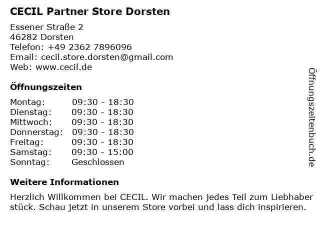 CECIL Partner Store Dorsten in Dorsten: Adresse und Öffnungszeiten