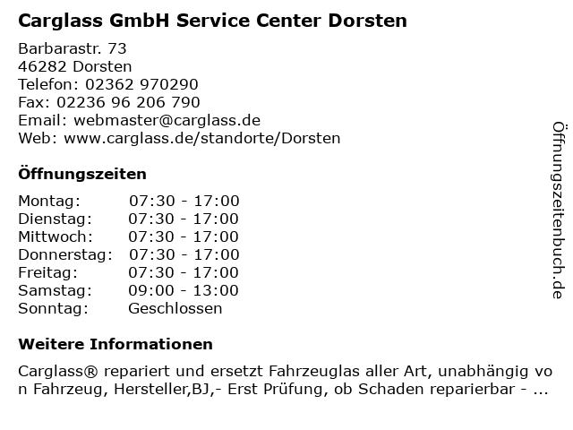 Carglass GmbH Service Center Dorsten in Dorsten: Adresse und Öffnungszeiten