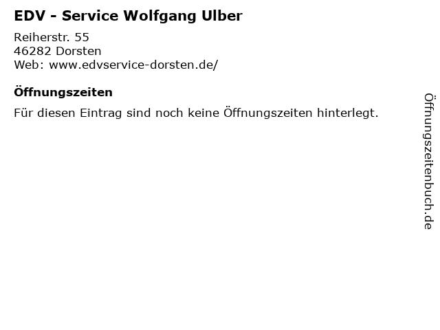 EDV - Service Wolfgang Ulber in Dorsten: Adresse und Öffnungszeiten
