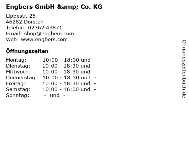 Engbers GmbH & Co. KG in Dorsten: Adresse und Öffnungszeiten