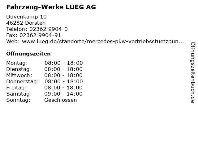 Fahrzeug-Werke LUEG AG in Dorsten: Adresse und Öffnungszeiten