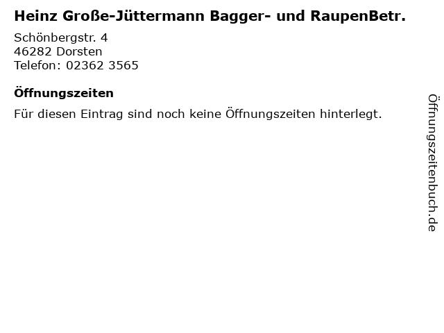 Heinz Große-Jüttermann Bagger- und RaupenBetr. in Dorsten: Adresse und Öffnungszeiten