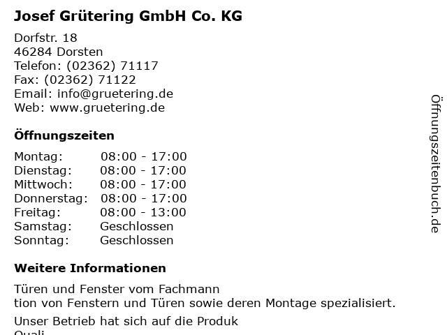 Josef Grütering GmbH Co. KG in Dorsten: Adresse und Öffnungszeiten