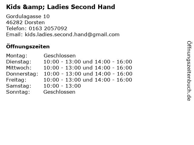 Kids & Ladies Second Hand in Dorsten: Adresse und Öffnungszeiten