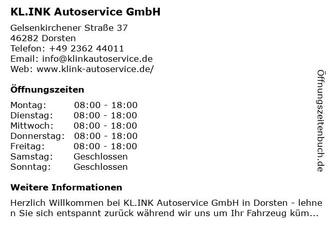 Klink AutoCrew Service in Dorsten: Adresse und Öffnungszeiten