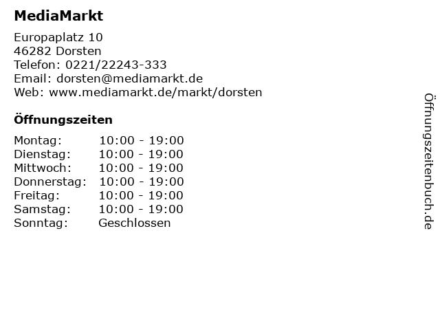Media Markt TV-HiFi-Elektro GmbH in Dorsten: Adresse und Öffnungszeiten