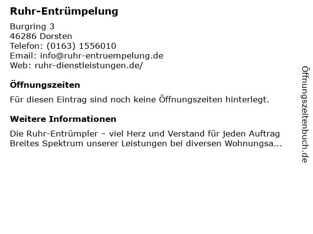 Ruhr-Entrümpelung in Dorsten: Adresse und Öffnungszeiten