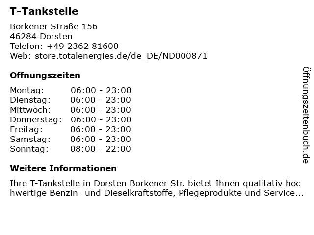 T-Tankstelle in Dorsten: Adresse und Öffnungszeiten