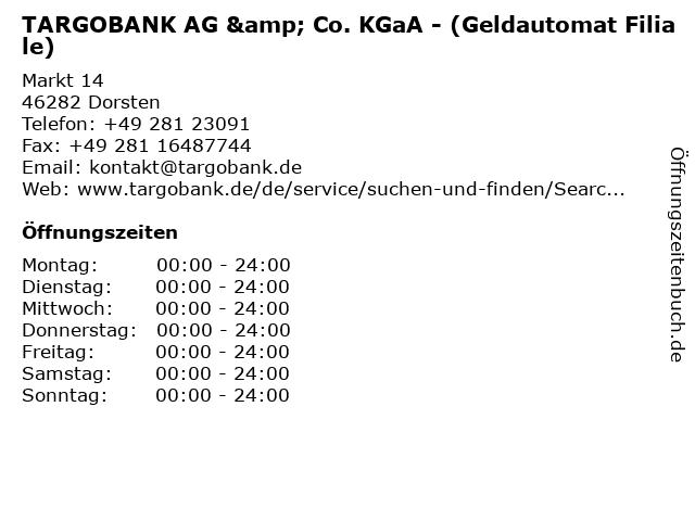 TARGOBANK AG & Co. KGaA - (Geldautomat Filiale) in Dorsten: Adresse und Öffnungszeiten