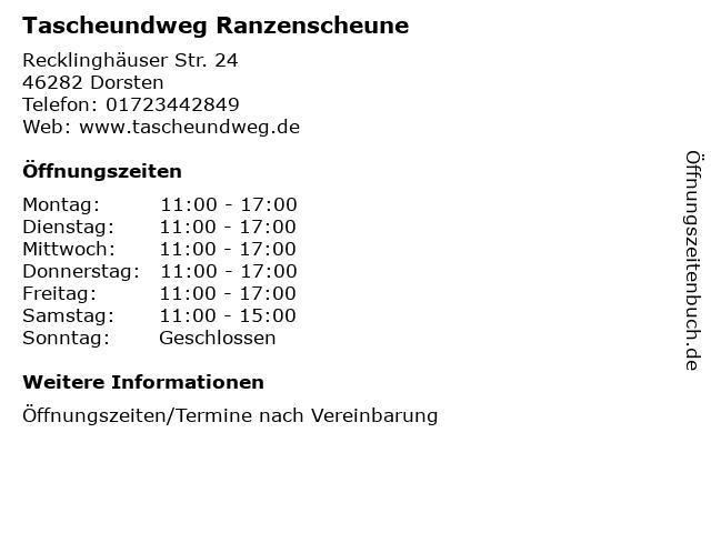 Tascheundweg Ranzenscheune in Dorsten: Adresse und Öffnungszeiten