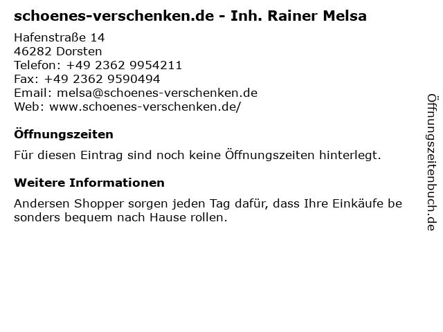 schoenes-verschenken.de - Inh. Rainer Melsa in Dorsten: Adresse und Öffnungszeiten