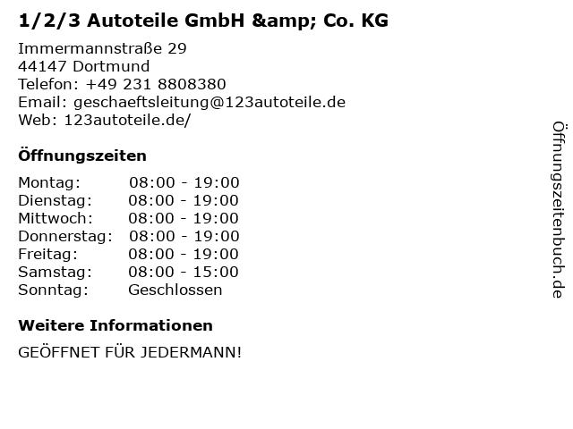 ᐅ öffnungszeiten 123 Autoteile Gmbh Co Kg