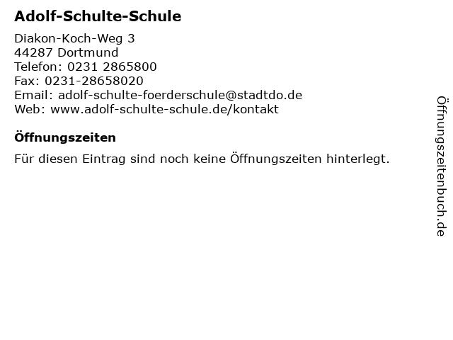 Adolf-Schulte-Schule in Dortmund: Adresse und Öffnungszeiten