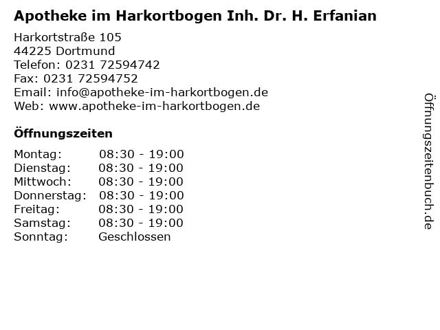 Apotheke im Harkortbogen in Dortmund: Adresse und Öffnungszeiten