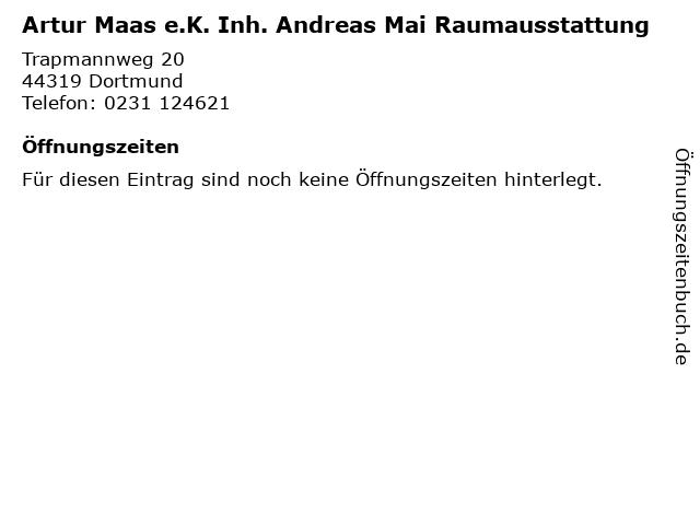 Artur Maas e.K. Inh. Andreas Mai Raumausstattung in Dortmund: Adresse und Öffnungszeiten