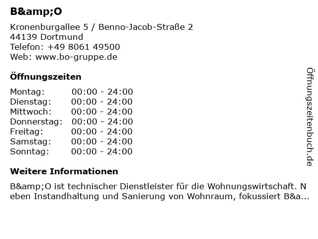 B&O in Dortmund: Adresse und Öffnungszeiten