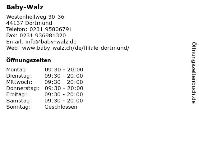 Baby-Walz in Dortmund: Adresse und Öffnungszeiten