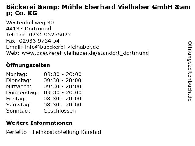 Bäckerei & Mühle Eberhard Vielhaber GmbH & Co. KG in Dortmund: Adresse und Öffnungszeiten